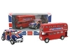 Bus & Union Jack Mini Pull Back Die Cast