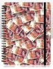 Fifty Pound Note Spiral Bound Notepad 12